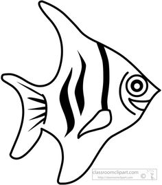236x269 Black And White Little Fish Clip Art Image