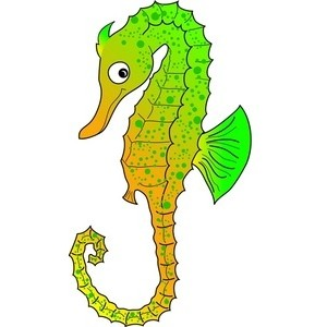 300x300 Realistic Clipart Seahorse