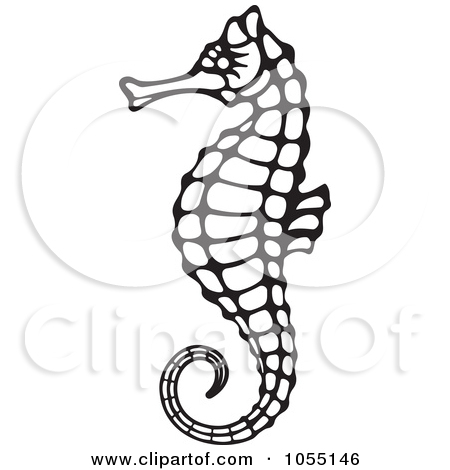 450x470 Sea Horse Clip Art Black And White Clipart Panda