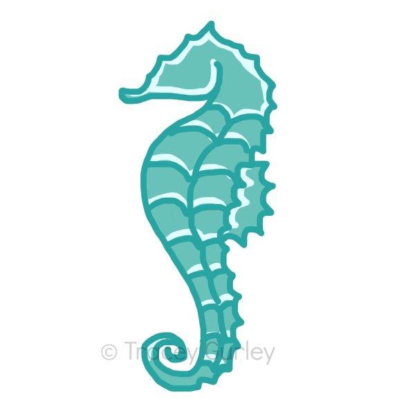 600x600 Seahorse Clip Art