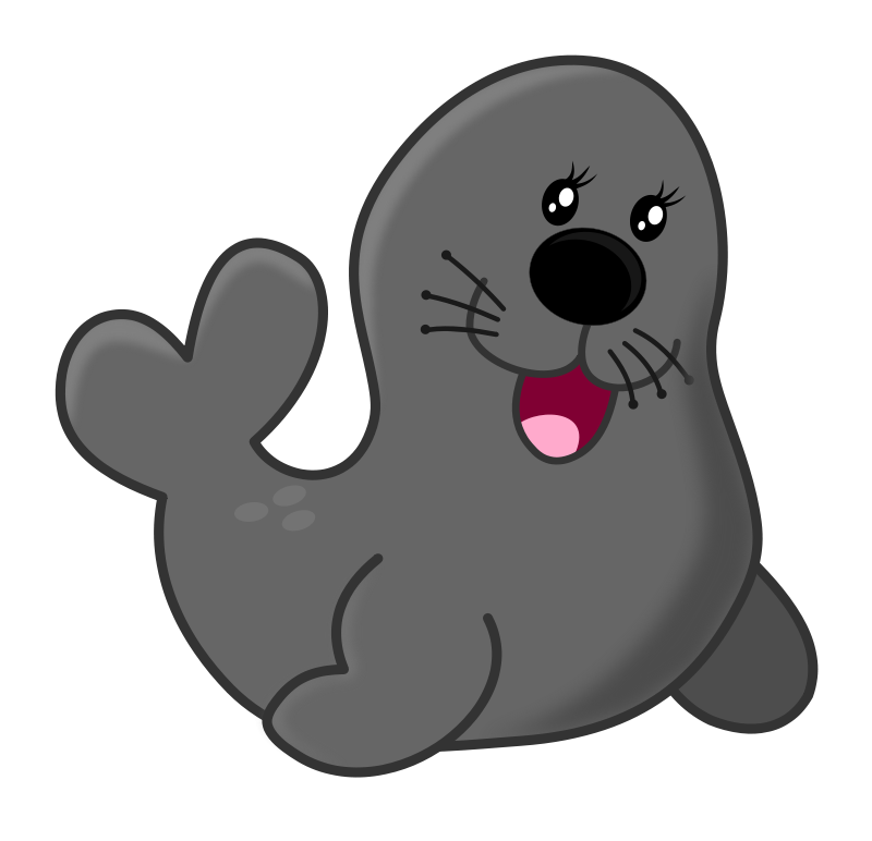 800x772 Free Cartoon Seal Clip Art