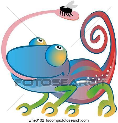 450x470 Clip Art Of A Chameleon Whe0102