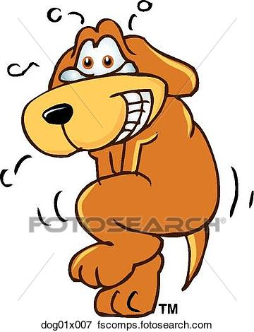360x470 Clip Art Of Dog Embarrassed Dog01x007