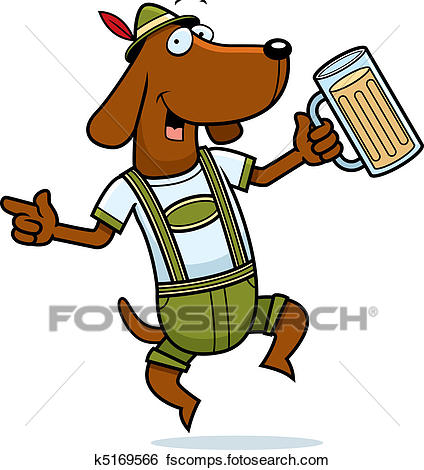 424x470 Clip Art Of German Dog K5169566