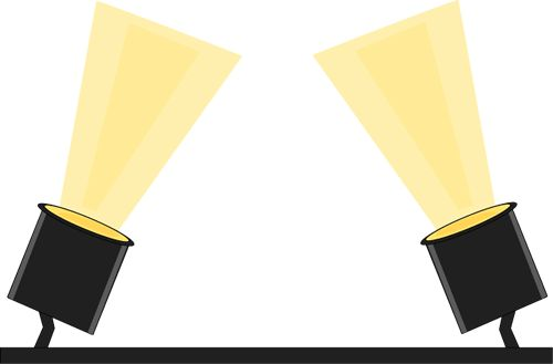 500x329 Stage Spotlight Clip Art Black Background Movies In Theaters