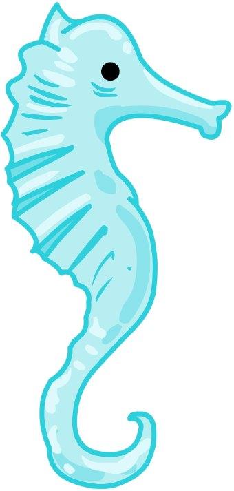 340x713 Blur Clipart Seahorse