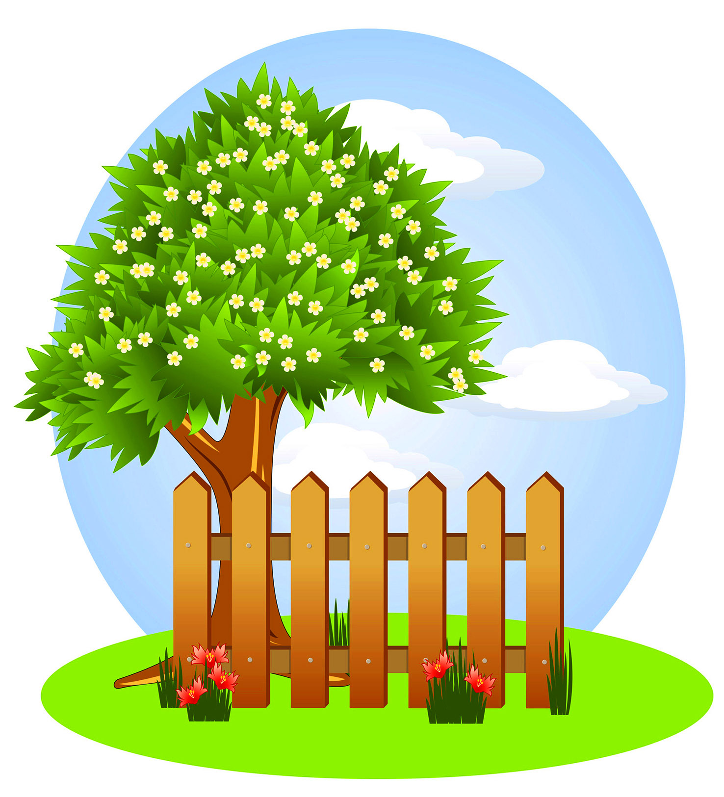 Trees summer. Seasons clipart free download
