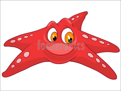 500x375 Aquatic Wildlife Cartoon Character Star