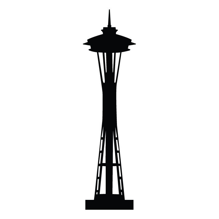 721x721 Seattle Space Needle Silhouette Art Docent Seattle