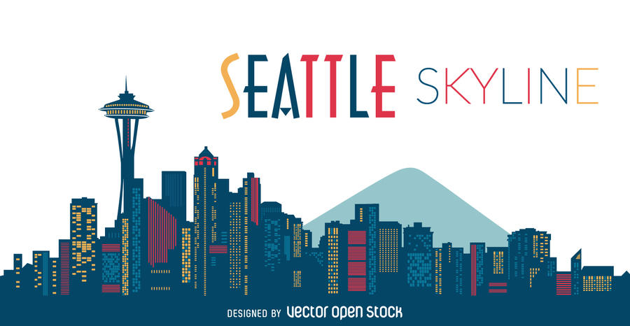 900x466 Graphics For Seattle Skyline Graphics