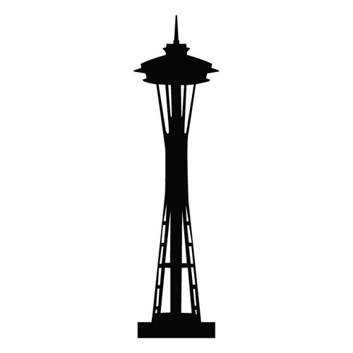 500x500 Graphics For Seattle Skyline Silhouette Graphics Www