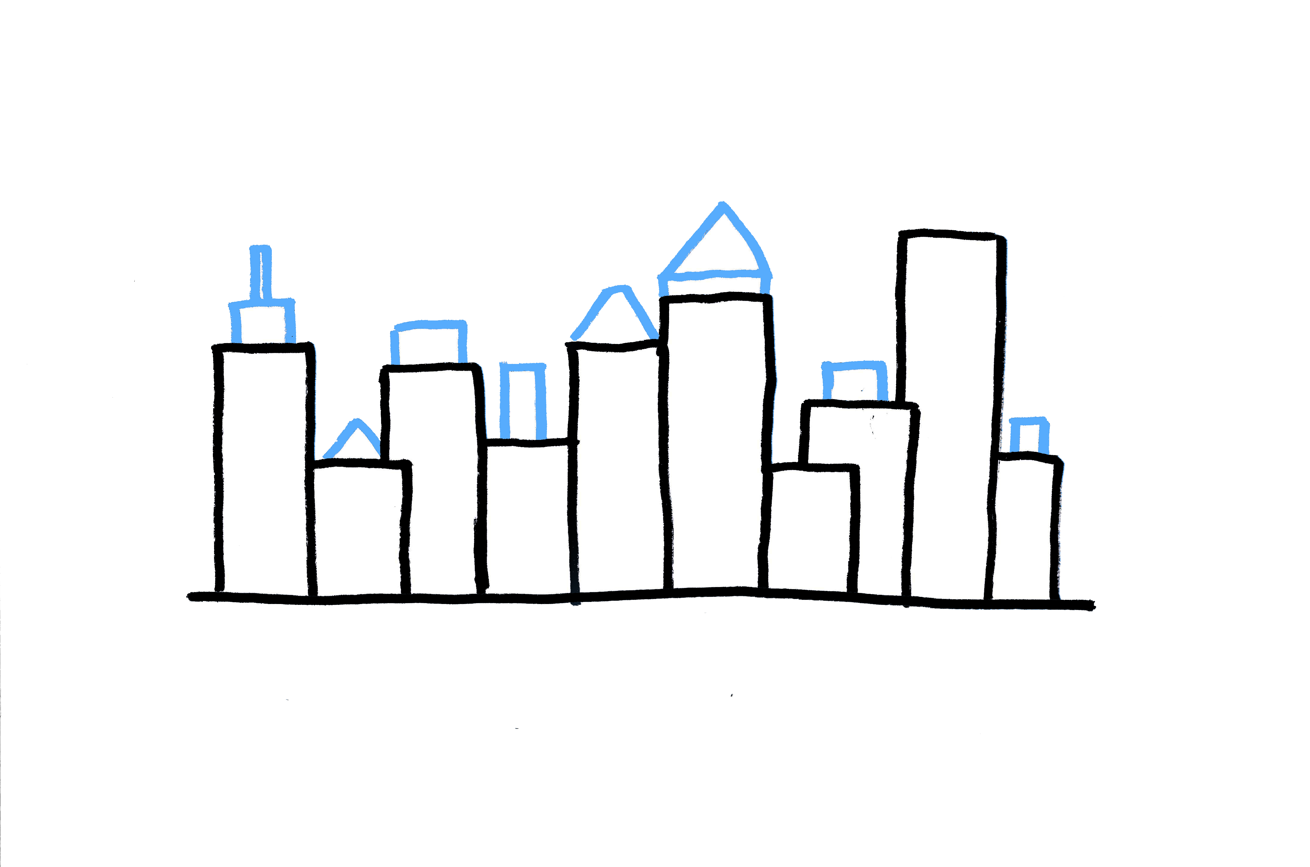 4400x2911 How To Draw A City Skyline 3 Ways