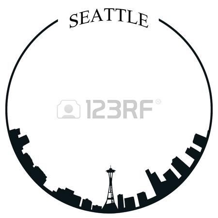 450x450 276 Seattle City Skyline Stock Vector Illustration And Royalty