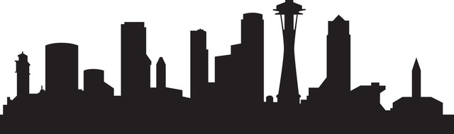 640x190 Photo Collection Seattle Skyline Silhouette Wallpaper