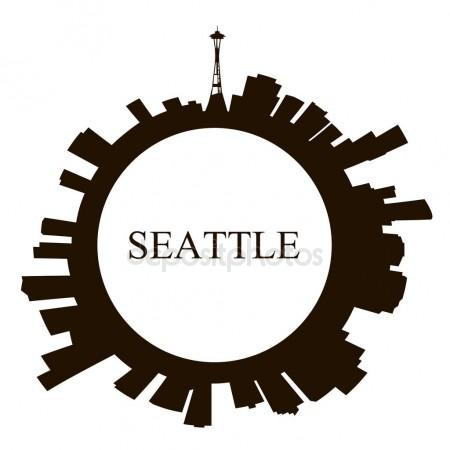 450x450 Seattle Skyline Stock Vectors, Royalty Free Seattle Skyline