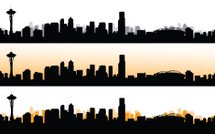 215x134 Silhouette Of Seattle City, Usa, Vector Stock Vectors