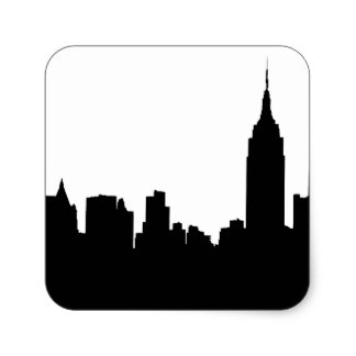 324x324 Skyline Stickers Zazzle