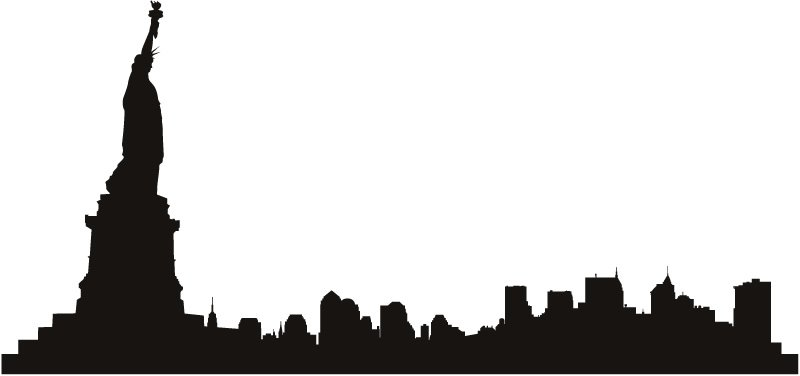 800x376 Skyline Clipart City Line