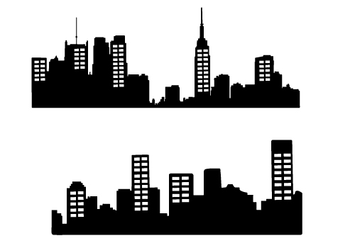 500x350 Changing To Night Clipart City Skyline