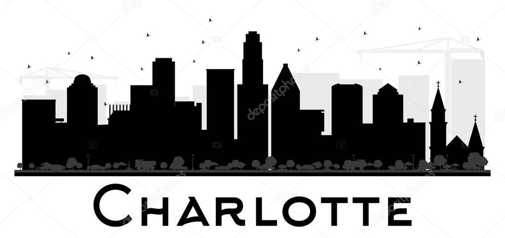 1023x482 Charlotte Skyline Stock Vectors, Royalty Free Charlotte Skyline