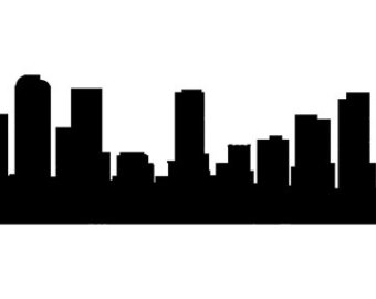 340x270 City Skyline Decal Etsy