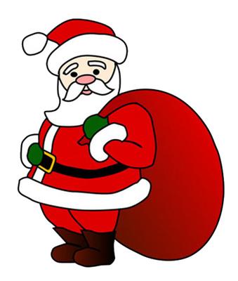 339x400 Clipart Of Santa