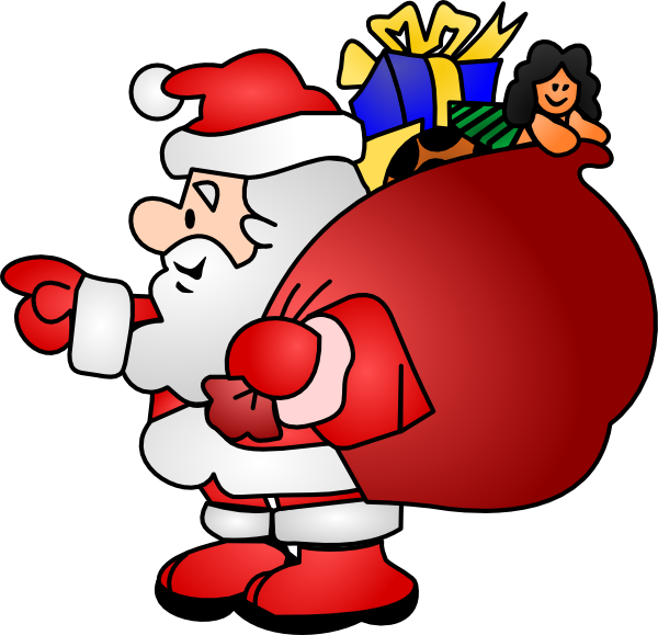 600x579 Cute Santa Clipart Your Christmas Image 2 3