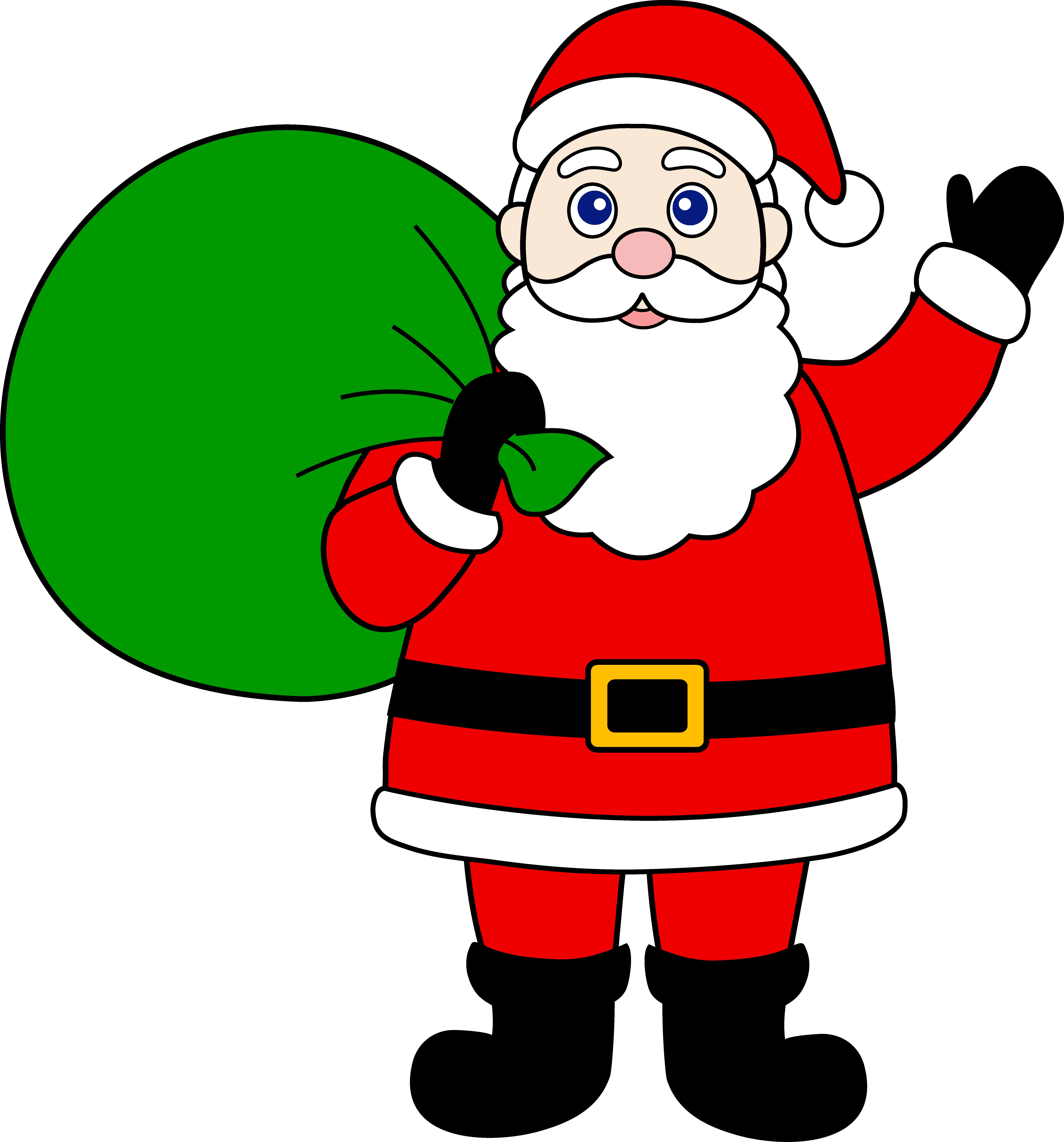 7060x7577 Free Santa Clipart