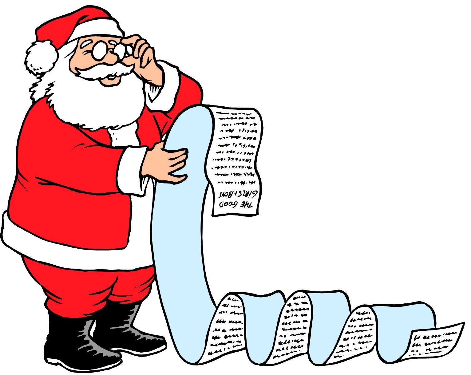 1532x1220 Santa Claus Making His List Clipart
