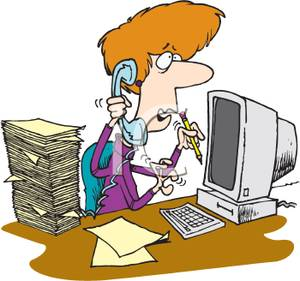 300x281 Busy Secretary On The Phone