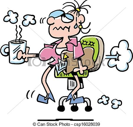 450x429 Busy Secretary Clipart