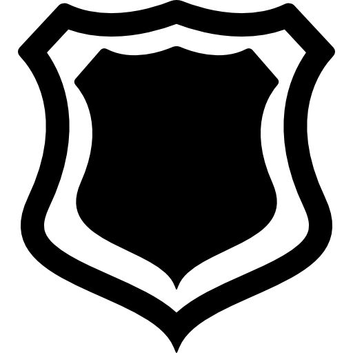 512x512 Shield Badge With Outline