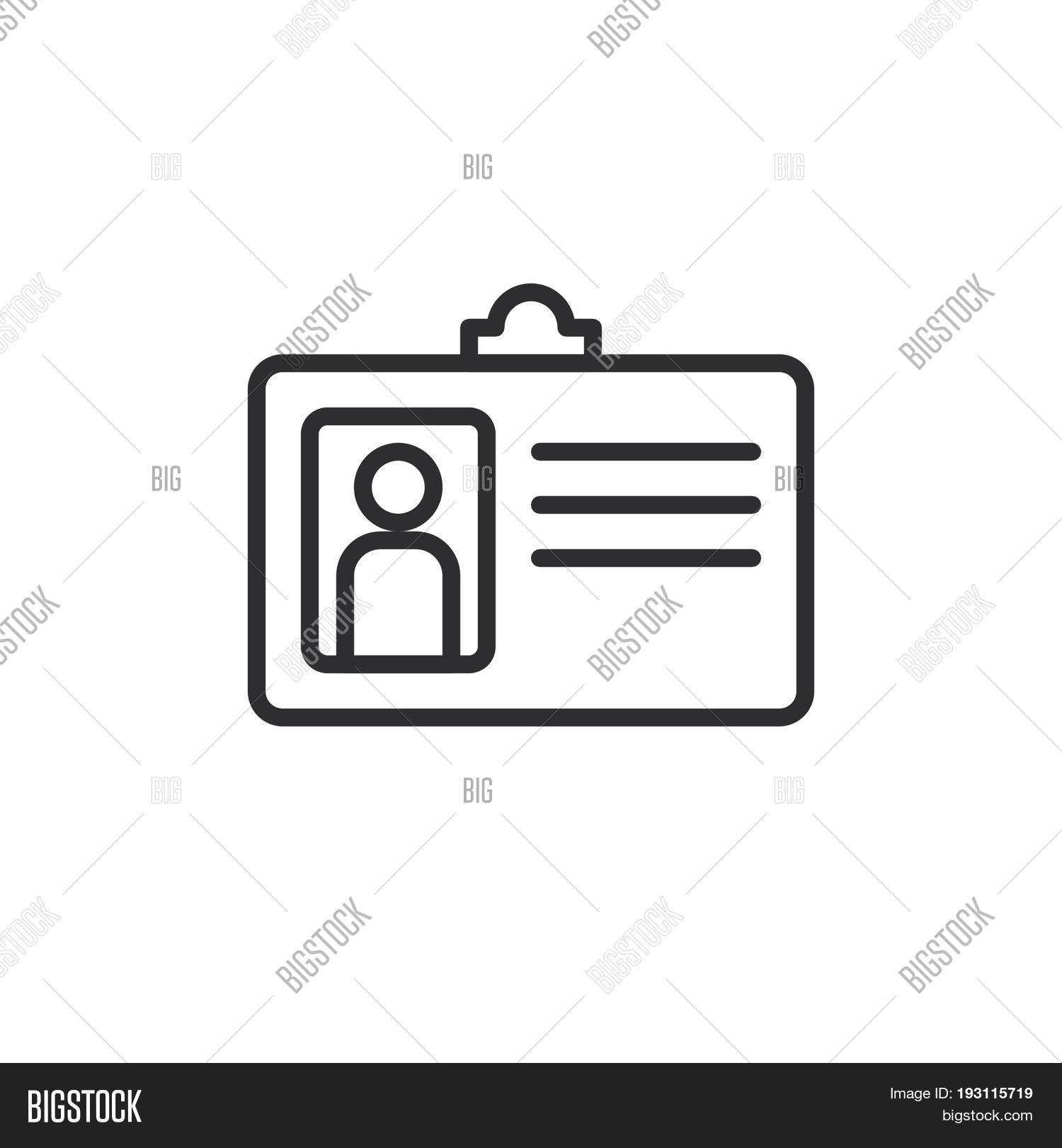 1500x1620 User Id Badge Line Icon Outline Vector Amp Photo Bigstock