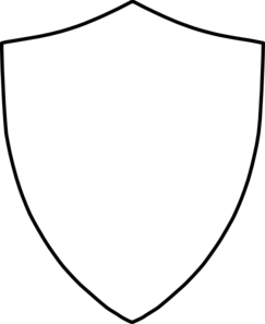 243x297 Security Badge Outline