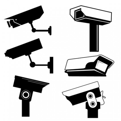 425x425 Security Camera Surveillance Camera Clip Art Vector Free Vector