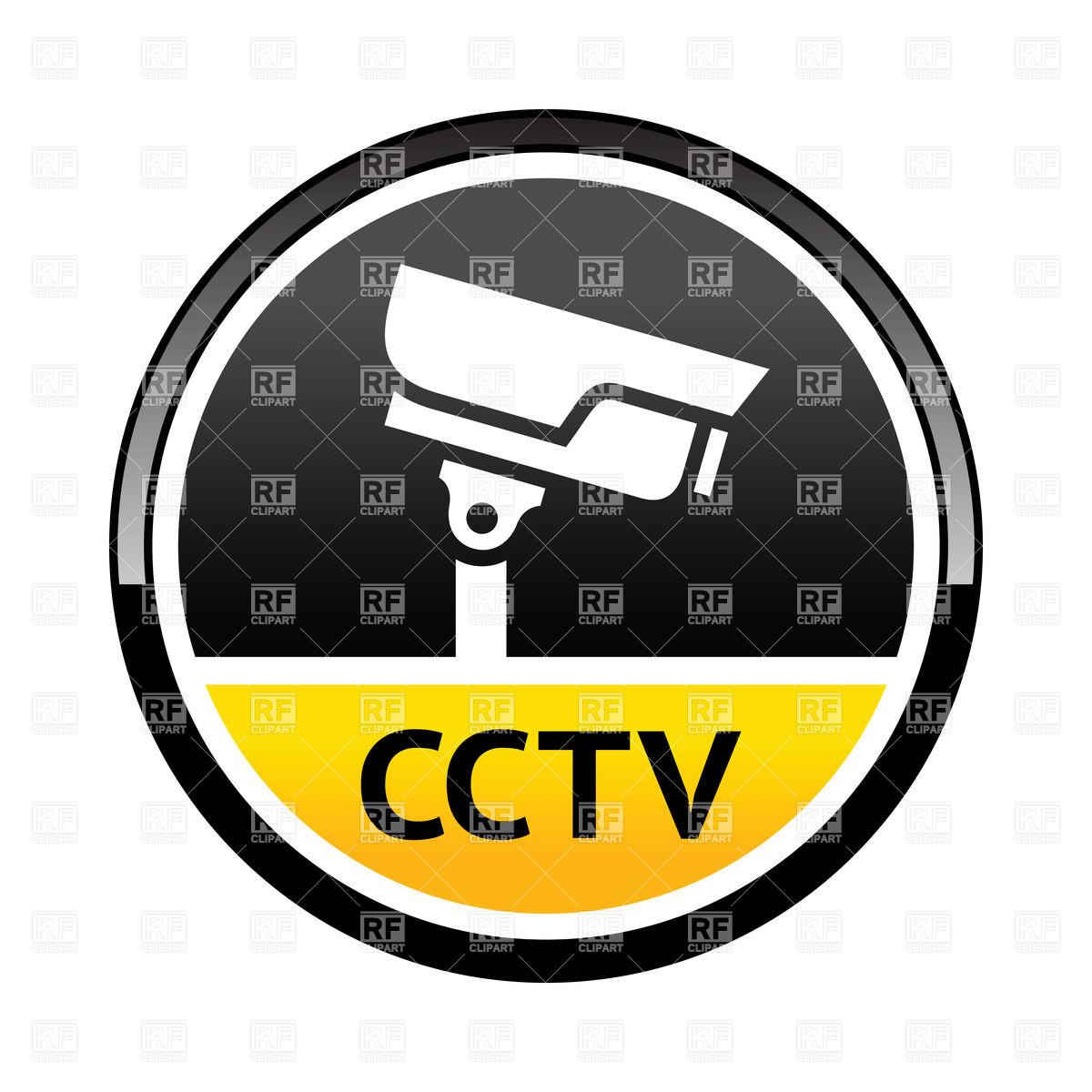 1200x1200 Cctv Round Sticker