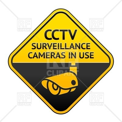 400x400 Security Alarm Cctv Camera Surveillance Sticker Royalty Free