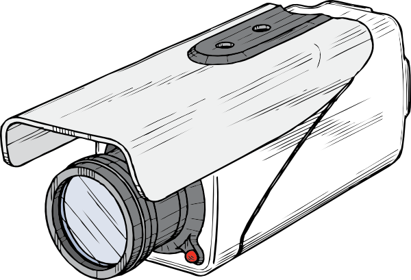 600x409 Surveillance Camera Clip Art Free Vector 4vector