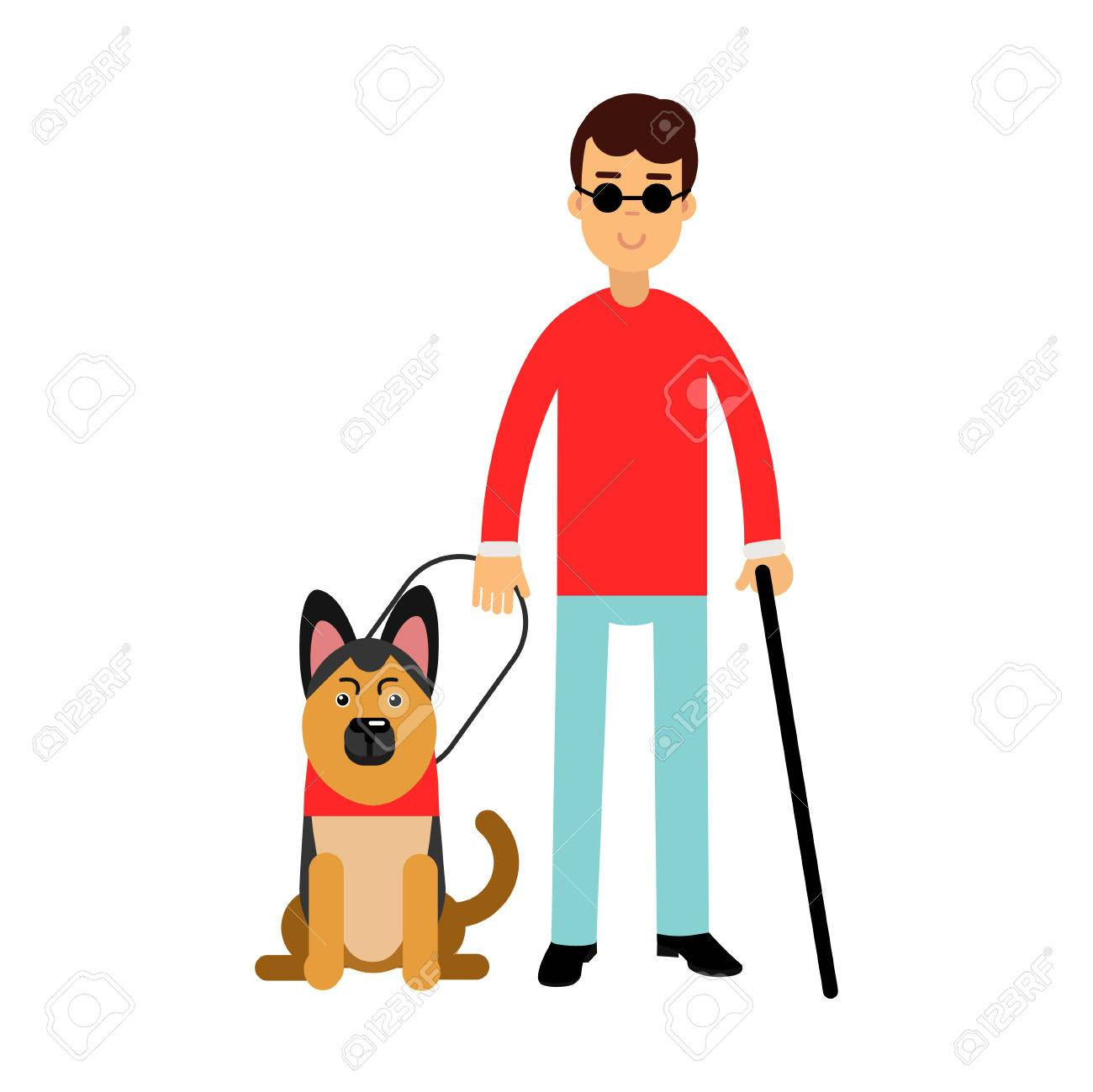 Seeing Eye Dog Clipart