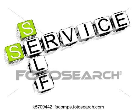 450x361 Clip Art Of Self Service Crossword K5709442
