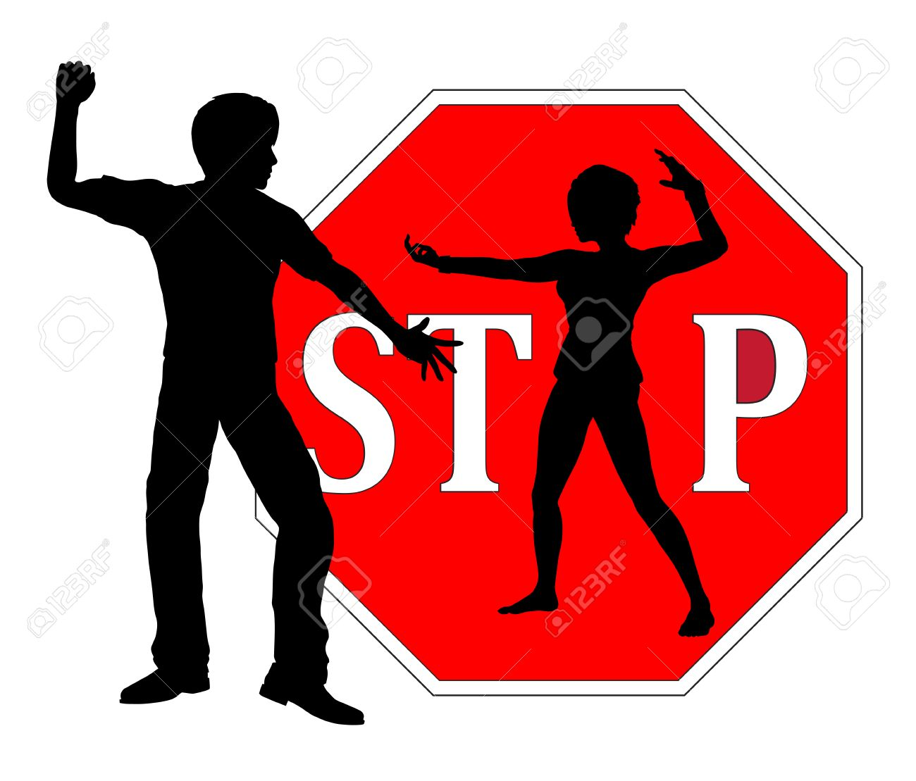 1300x1109 Self Defense For Women. Woman Who Is Defending Herself As Concept