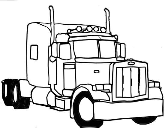 550x426 Semi Truck Drawings Semi1 Clipart And Vectorart Vehicles Semi 2