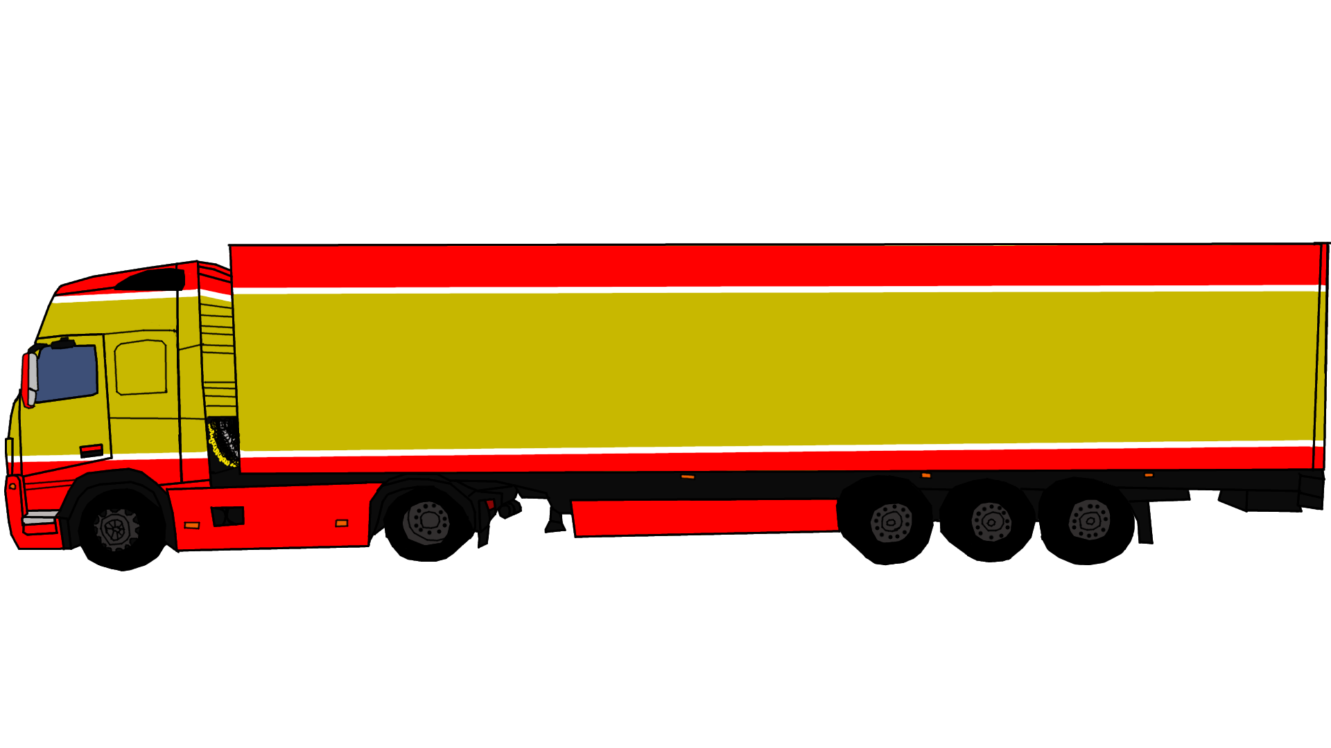 1920x1080 semi truck side view png clipart