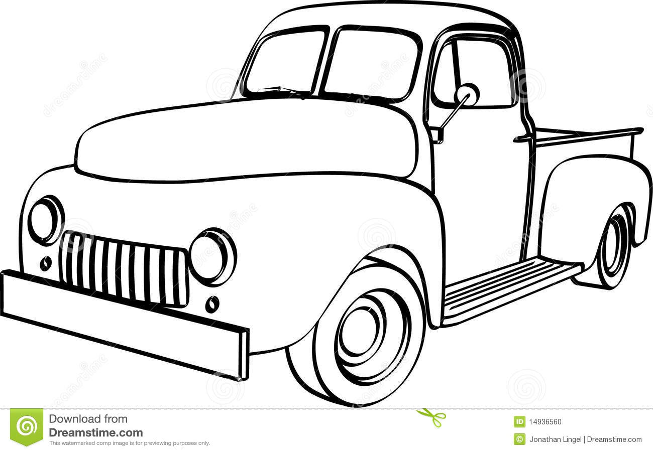 1300x903 Old Truck Clipart