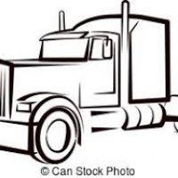 200x200 Semi Truck Clipart