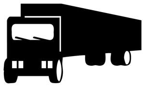 300x180 Semi Truck Clipart Black And White Clipart Panda