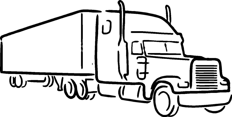 1440x728 Semi Truck Clipart Black And White Clipart Pie Cliparts 3