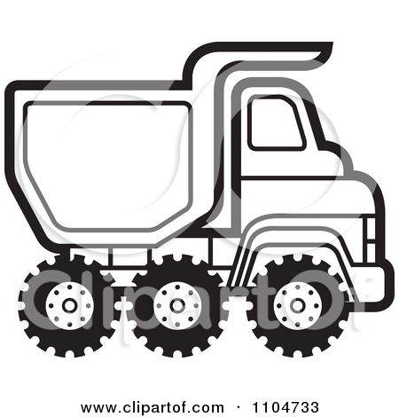 450x470 Truck Black And White Clipart