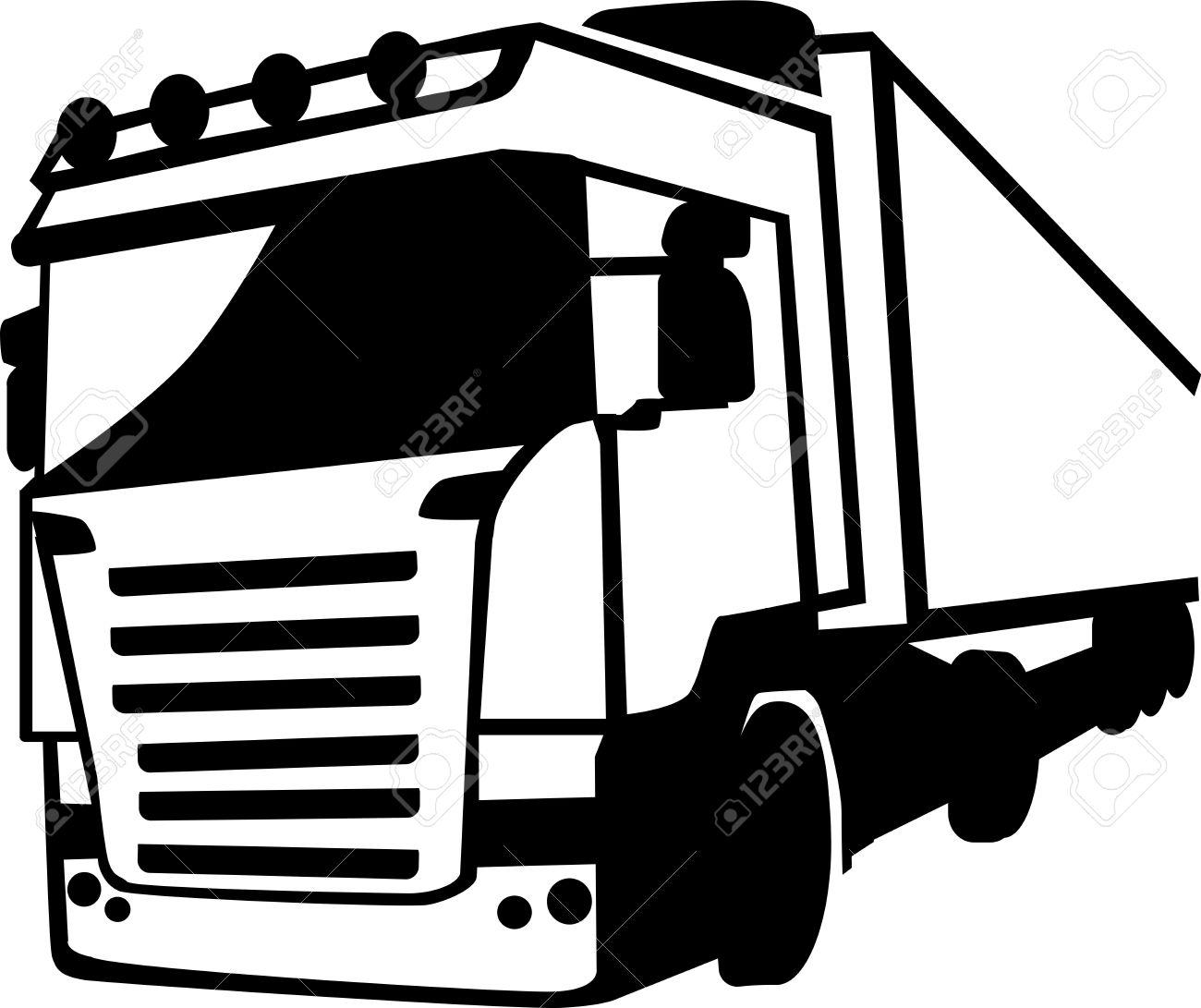 1300x1091 Truck Clipart Vector Front