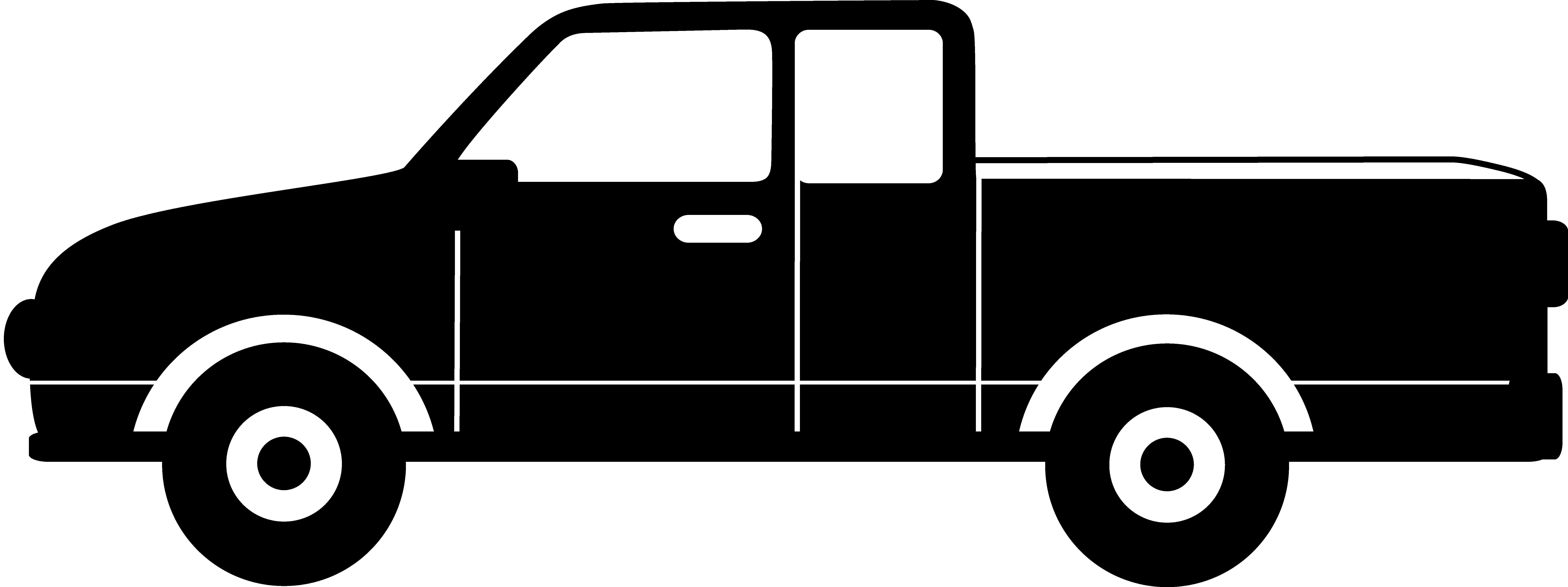 8572x3212 Vehicle Clipart Black And White